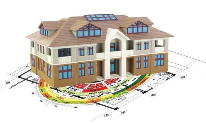 ngôi nhà nằm trên bản đồ