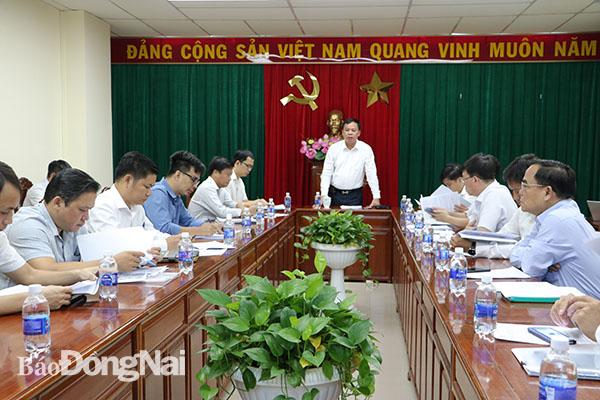 Phó chủ tịch UBND tỉnh Võ Tấn Đức phát biểu tại buổi làm việc.