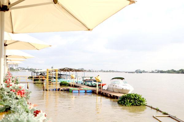 Bến thuyền phục vụ tuyến du lịch đường sông (hiện nay đã tạm ngưng hoạt động). Ảnh: Ngọc Liên